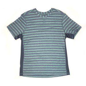 Lululemon Metal Vent Short Sleeve Stripe Tee XL?